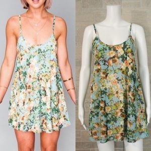 Show Me Your Mumu Bella Flowers In The Sky Dress